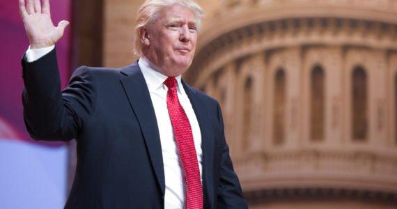 Image result for donald trump raising hand